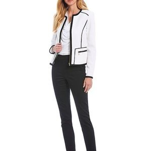 Calvin Klein Textured Zip Front Jacket